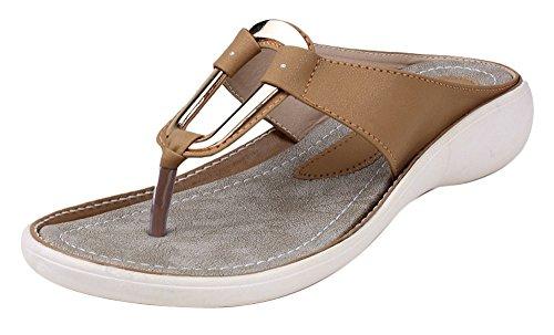 Digni simili cuir des femmes de cause à effet en plein air sandale plate 1 pair- choisir la taille Beige