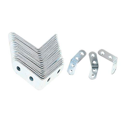 FLAMEER 20 Stück Eckwinkel Möbelwinkel Winkelverbinder für Möbel Stühle, Auswahl - 40 x 40 x 16 mm