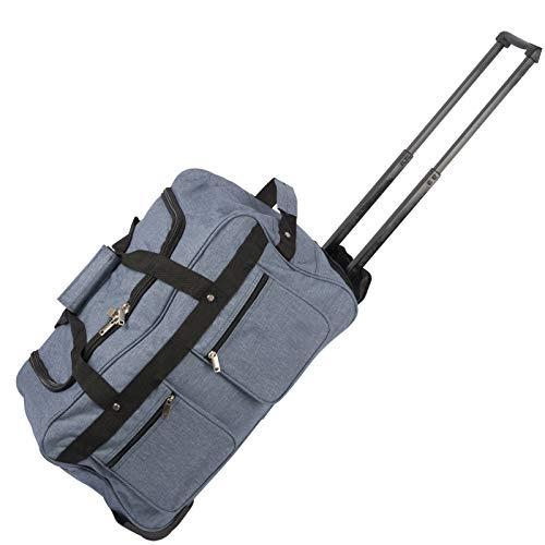 JEMIDI Trolley Reisetasche XXL 110 Liter mit Rollen JEMIDI Trolleytasche Große Jumbo Sporttasche Reise Gepäck Tasche Koffer mit ausziehbarem Griff (Blau)