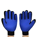 HLZDH 2PCS Guantes de 5 Dedos Manopla Masaje para Perros Mascotas Gatos, con el Material Transpirable, Retiro del Pelo y Aparato de Masaje Guantes Eficientes para la Eliminación de Pelo Suelto (Azul)