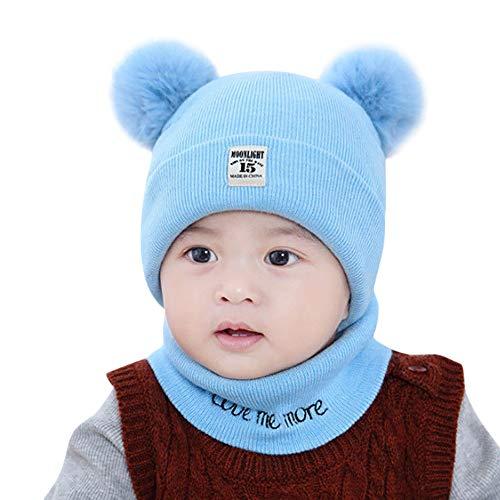 Yesmile Baby Halstücher Babybekleidung Hüte & Mützen Pom Hut Niedlich Winter Baby Kinder Mädchen Jungen Warm Woll Haube Kapuze Schal Mützen Hüte