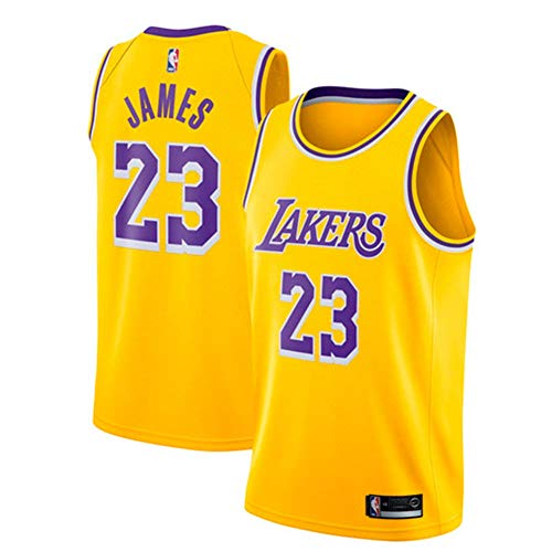 Lebron James Trikot, NO.23 Retro Lakers, Basketballspieler-Trikot, Atmungsaktive Und Abriebfeste Stickerei, Jungen Männer Fans Trikot - Lebron James Nba
