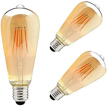 ZHMA LED 3X4W E27 Bombillas Filamento, Paquete de 3 Unidades Iluminación Vintage, 3 Bombillas LED 4W con S Vendimia Edison regulable Iluminación de ...