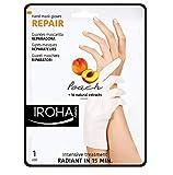 Iroha Lot de 4 masques régénérants à la pêche pour les mains Format gants, 2x 2pieces