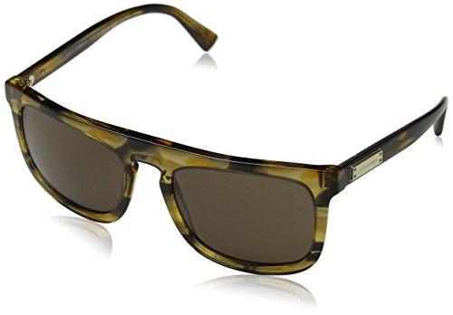 Dolce & Gabbana Herren 0Dg4288 306373 56 Sonnenbrille, Braun (Striped Brown)