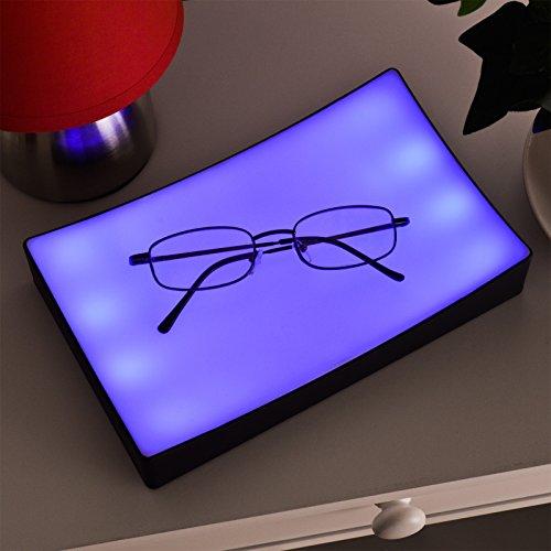 Bedside Touch Lamp Bedroom Lights Dimmer Blue LED Table Blue