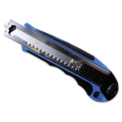Heavy-Duty Snap Blade Utility Knife, Four 8-Point Blades, Retractable, Blue (Utility Heavy Knife Retractable Duty)