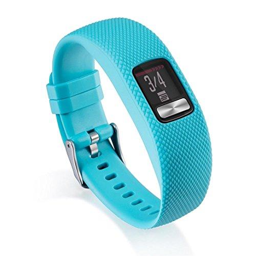 Diadia Garmin Vivofit 3Ersatz-Silikon-Armband-Textur-Gurt mit Schnalle, himmelblau