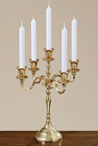 Kerzenleuchter Victoria 5 flammig 40cm goldfarben