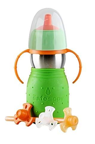 Kid Basix Safe Sippy 2Drinking Bottle 330ml Green 240