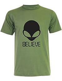 PALLAS Unisex's Alien UFO Believe T-Shirt