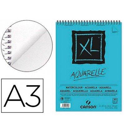 CANSON Skizzen- und Studienblock XL Aquarelle, DIN A3, 30 Blatt, 300 g/qm, 297 x 420 mm, Block mit...