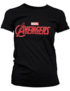 Licenza Ufficiale The Avengers Distressed Logo Donna Maglietta