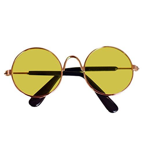 LIskybird Puppe Cool Brille Haustier Sonnenbrille für BJD Blyth American Grils Spielzeug Foto Requisiten Gr. M, 5