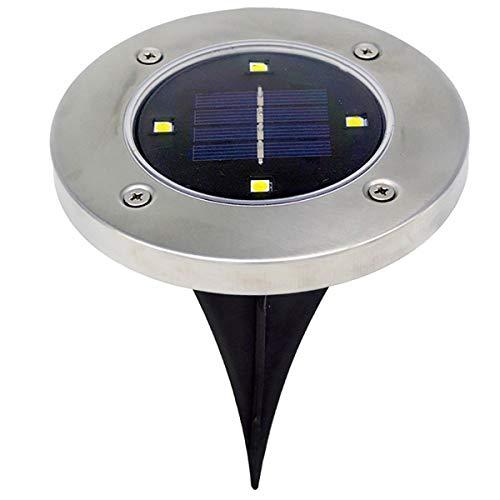 Outdoor Solarleuchten, 4 LED Solar Licht Außen Boden Wasserdichte Weg Garten Landschaft Beleuchtung Yard Einfahrt Rasen Teich Pool Pathway Nachtlampe (Größe : Kaltes Weiß) -