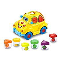 Early Education Baby Toy Fruit Car with Music Light Block For 18 Month Old Baby