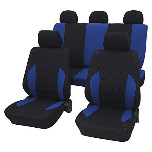 Rostock blau schwarz16828 Schonbezug Sitzbezug Autoschonbezug Schonbezüge für dir unten angegebenen Fahrzeuge