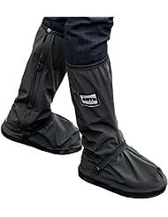 1 Paar Regenüberschuhe Wasserdicht Schuh,SHTH Flache Regen Überschuhe Schuhüberzieher Rutschfestem Regenüberschuhe optimal vor Nässe,Schnee und Matsch geschützt