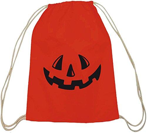 Sacchetto Della Natura Del Costume Spaventoso Di Halloween Con La Natura Rossa Di Motivo Del Fronte Della Zucca Di Halloween