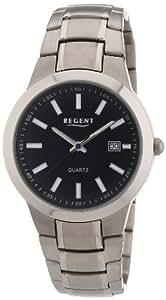 Regent - 11090243 - Montre Homme - Quartz Analogique - Bracelet Titane Gris