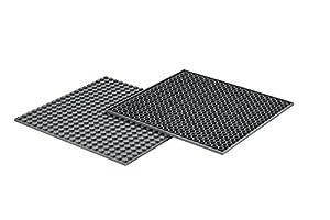 Q-Bricks - Placa Base de construcción de 20 x 20 Tuercas, 4 Piezas