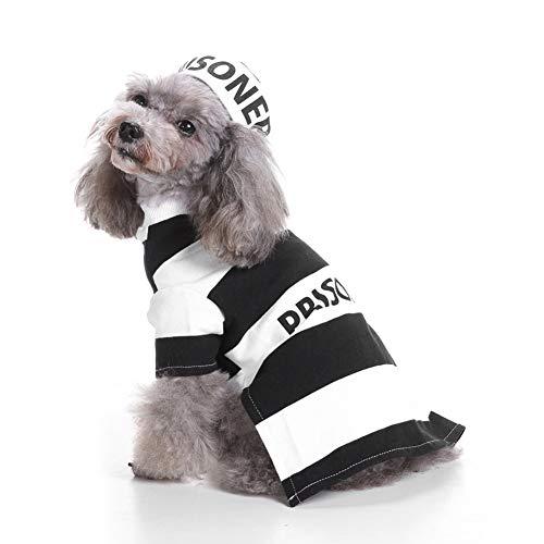 Hunde Kostüm Gefangener - HERSITY Hundekleidung Halloween Kostüm Cosplay Gefangene für Kleinen Hund