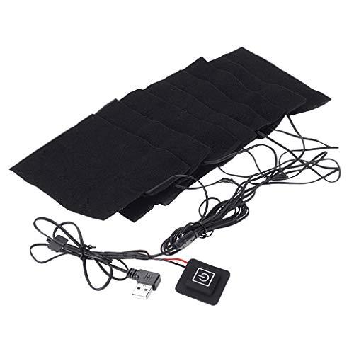 Homyl Plaque Chaffe Vêtement avec Interrupteur USB limentation Thermostat Chauffante Kit Protection Chaud