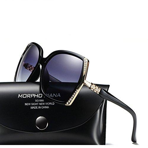 DFGHGXCNBX Ms. Polarisierte Brille UV-Schutz Sonnenbrille Klassische Diamond Sonnenbrille, 011