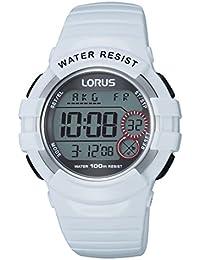 Lorus Watches - R2319KX9 - Montre Femme - Quartz Digitale - Chronomètre/Alarme/Boussole/Fuseaux horaires - Bracelet Caoutchouc Blanc