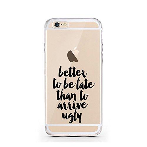 iPhone 5 5S SE Hülle von licaso® für das Apple iPhone 5S aus TPU Silikon Ein bisschen Dick is nicht so slim! Vögelchen Dickie Muster ultra-dünn schützt Dein iPhone 5SE & ist stylisch Schutzhülle Bumpe Better to be late