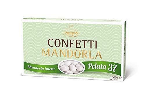 CONFETTI CRISPO GRAN LUSSO PELATA 37 MANDORLA CONFEZIONE DA 1000 GR. BOMBONIERE - 0114