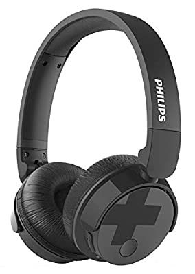 Philips TABH305BK/00 Bluetooth On Ear Headphones with Active Noise Cancellation (Voluminous Bass, 18 Hour Battery Life, Foldable) - Black