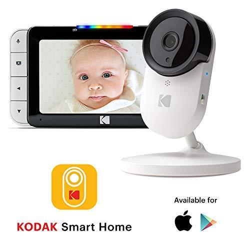 Moniteur vidéo pour bébé KODAK Cherish C520 - Écran HD de 5' & application mobile, caméra à...