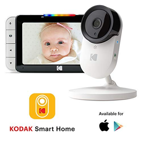 KODAK CHERISH C520 Video-Babyphone - Zoomende Babykamera, 5-Zoll-HD-Babymonitor, One-Touch-Audiomonitor, mobile und WiFi-App