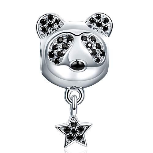NINAQUEEN Panda Stern Damen Charms 925 Sterling Silber Bead für pandora charms armband Schmuck...