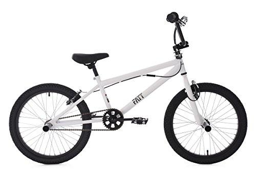 KS Cycling BMX Freestyle 20 Zoll Fatt Fahrrad, weiß, -