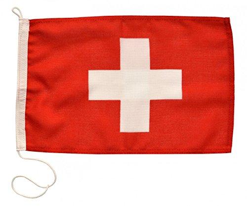 Navyline Gastlandflagge Schweiz in Zwei Größen, Größe:20 x 30 cm