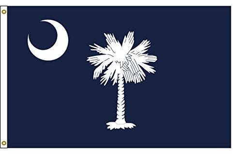 Flags Poles And More South Carolina 8ftx12ft Nylon State Flagge 8x 12Made in USA 8'X12' Carolina 8