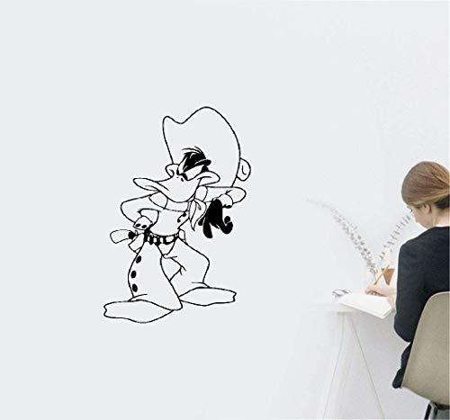 Wandtattoo Schlafzimmer Daffy Duck Cowboy Comics Aufkleber Ente Aufkleber Wand Kinderzimmer benutzerdefinierte Abziehbilder (Duck Baby Daffy)