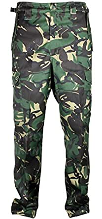 Mens Cargo Combat Army Camouflage Trousers Heavy Duty 6 Pockets With Inside Leg 31.5 Inches (30, Green)