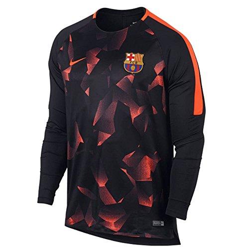 2017-2018 Barcelona Nike Dry LS Squad Training Shirt (Black) (Pre-match Barcelona)