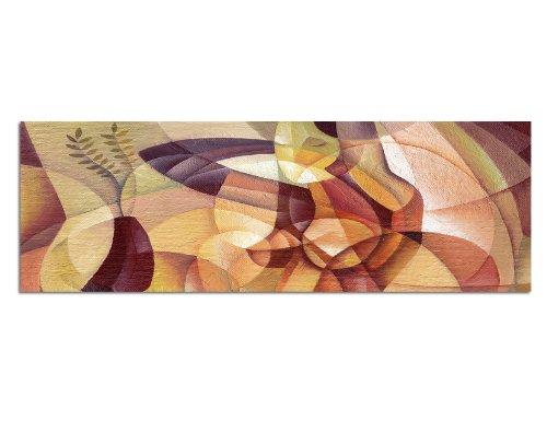 Panoramabild XXL auf Leinwand und Keilrahmen 180x70cm Gemälde Malerei Kubismus Portrait Frau