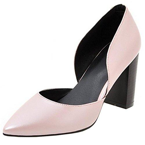 COOLCEPT Damen Mode-Event D orsay Geschlossene Pumps Hochzeit Shoes Pink