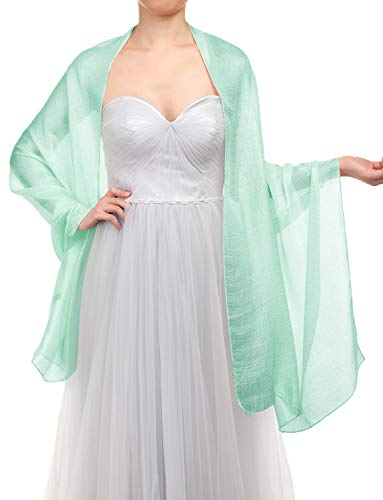Gardenwed sciarpa scialle da donna eleganti scialli estate sciarpe pashmina stole per sera matrimoni feste spiaggia mint
