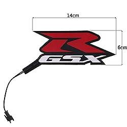 YUQINN Motorradteile Motorrad-Licht LED-DIY Reflective EL kaltes Licht-Aufkleber for SUZUKI GSXR GSXR 600/750/1000 K3 K4 K5 K6 K7 K8 K9 600cc-1000CC (Color : Red)