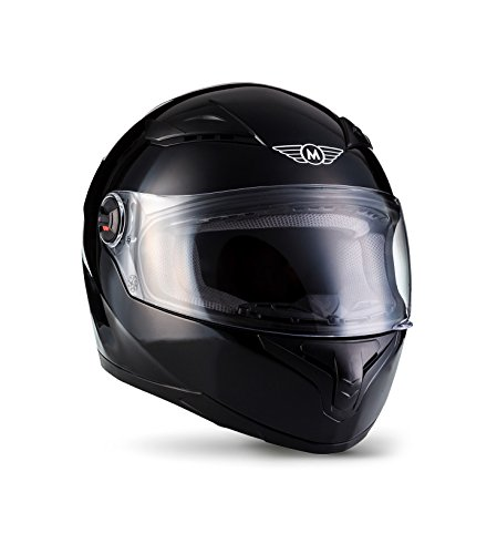 MOTO X86 Gloss Black · Cruiser Casco Integrale Urban Urbano Moto motocicleta Fullface-Helmet Scooter Sport · ECE certificado · visera incluido · incluyendo bolsa de casco · Negro · S (55-56cm)