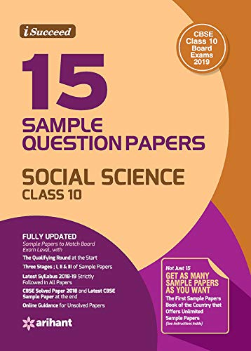 15 Sample Question Papers Social Science Class 10th CBSE Image