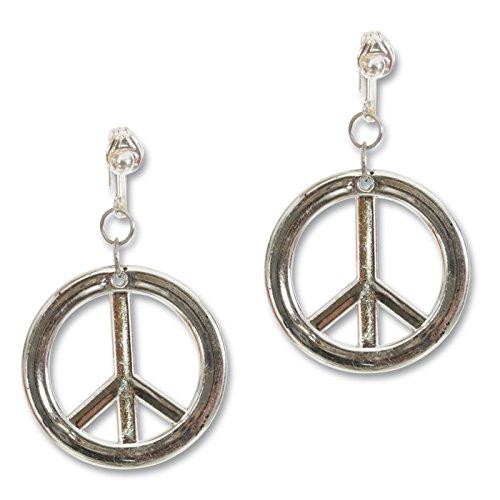 PARTY DISCOUNT Ohrringe Hippie Peace, mit Clip