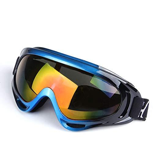 Bishilin Brille Motorrad Winddicht Skibrille Nebel Blau Schwarz Rot Arbeitsbrille Für...