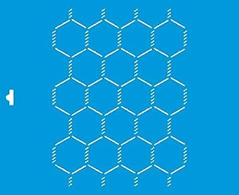 21cm x 17cm Flexibel Kunststoff Universal Schablone - Wand Airbrush Möbel Textil Decor Dekorative Muster Design Kunst Handwerk Zeichenschablone Wandschablone - Draht (Muster Draht)